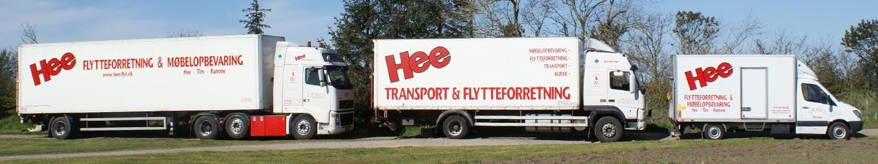 Vi flytter med kassevogn (24 m3), forvogn (45 m3) eller citytrailer (80 m3)